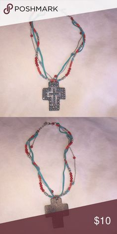 Cross Necklace Custom made cross necklace. Perfect chunky jewelry for any occasion! Jewelry Necklaces