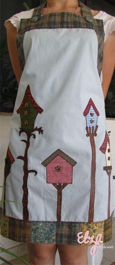 Avental casinha de passarinho