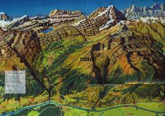 Glarus Sd elm Panoramakarte fr Elm Matt Engi Schwanden