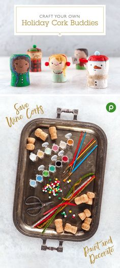 Save this season's wine corks to create fun holiday characters. Paint and decorate with items such as pom-poms, glittery pipe cleaners, and other craft supplies. Use for festive table toppers, or attach a piece of string to hang your cork buddies as ornaments. Find more holiday craft and wine gifting tips with the Publix Wine Program.