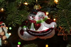 Cute First Wedding Christmas Ornament