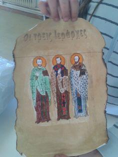 Οι τρεις Ιεράρχες Greek Language, Learning, Winter, Blog, Crafts, Winter Time, Manualidades, Blogging, Handmade Crafts