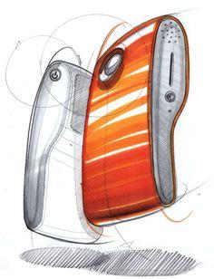 素描-A-天:工業設計COPIC標記,繪製prismacolor斯賓塞紐金特