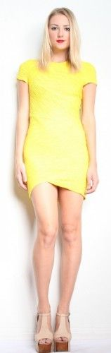 Torn by Ronny Kobo Kaitlyn Pleated Dress - Yellow $251