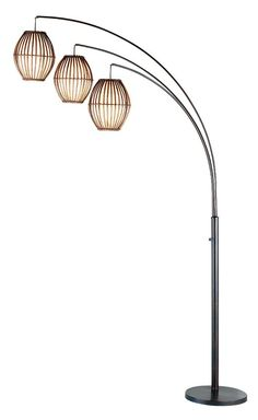 Adesso 4026 Maui 3 Light 82 Quot High Arc Floor Lamp Antique Bronze Lamps Floor Lamps Arc Lamp