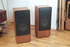Dieter Rams' Braun L1030/4 Speakers. 140w. 4ohm, beautiful design