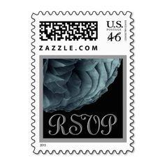 #SpruceGreen #Silver #RSVP #Rose #Wedding #Stamp http://www.zazzle.com/spruce_green_silver_rsvp_rose_wedding_stamp-172252082202852706