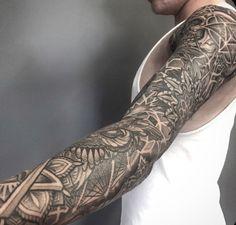 tattoo sleeve geometry - Google Search