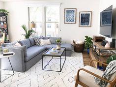 Coastal Modern Living Room - West Elm, Target, & World Market