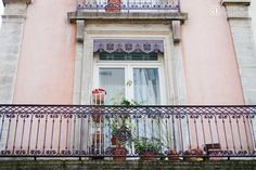 Pretty French Window and Balcony of Old Apartment on ANNE in FASHION | Wintertime In Lovely Lyon, France ~ Part Two