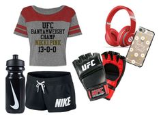 """""""UFC"""" by annie-barnes ❤ liked on Polyvore featuring NIKE, Beats by Dr. Dre and Casetify"""
