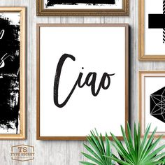 Ciao Italian print Italian quote Italian quotes by TypeSecret                                                                                                                                                                                 More