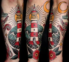 tattoo traditional lighthouse