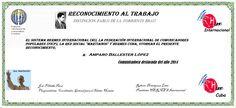 Reconocimientos 2014: Amparo M Ballester López Distinción Pablo de la Torriente Brau