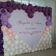 30 Unique and Breathtaking Wedding Backdrop Ideas – Page 2 Paper Flower Wall, Giant Paper Flowers, Flower Wall Backdrop, Paper Backdrop, Diy Wedding, Dream Wedding, Wedding Day, Paper Flowers Wedding, Flower Wall Wedding