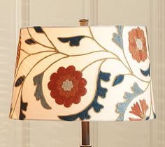 Mila Suzani Embroidered Tapered Drum Lamp Shade