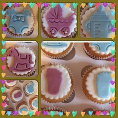#babyshower #cupcakes #babygirl #babyboy #cute #cake #vanillacupcakes #surprise #celebration #bobbierosebakery