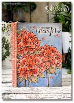 Patterned paper, flowers, watercolor background, alcohol markers