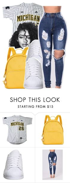 """""""Untitled #338"""" by glowithbria ❤ liked on Polyvore featuring Tommy Hilfiger and adidas"""