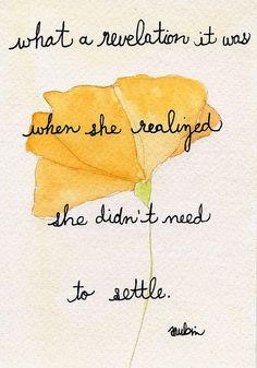 Don't settle..