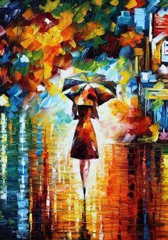 Rain Princess 2 ~ Leonid Afremov