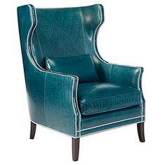 #zgallerie Peacock Blue Eddie Accent Chair from zgallerie. Adore!