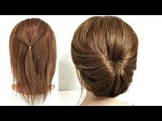 Hairstyle for Short Hair. Just do it yourself! Hairstyle for Short Hair. Just Make Yourself! - Hairstyle for Short Hair. Just do it yourself! Hairstyle for Short Hair. Just Make Yourself! Fast Hairstyles, Easy Hairstyles For Long Hair, Hairstyle Short, Ponytail Hairstyles, Medium Hair Styles, Short Hair Styles, Bun Styles, Hair Upstyles, Braided Ponytail