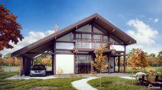 Тренд-206 Красивый двухэтажный фахверковый дом