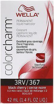 Wella Color Charm Liquid Permanent Hair Color 367/3RV Black Cherry