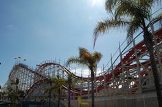 The Giant Dipper Roller Coaster at Mission Beach, San Diego, california