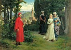 a little Dante Humor. Click picture to see whole story. A4 Poster, Poster Prints, Art Prints, Dante Alighieri, Kingdom Of Heaven, Vintage Artwork, Humor, Fresco, Art History