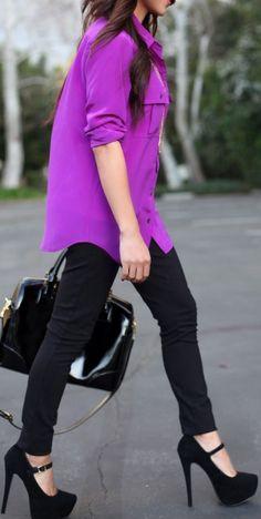 Purple & Black ♡