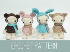 Amigurumi crochet PATTERN of four cute misses by CreepyandCute, €6.50