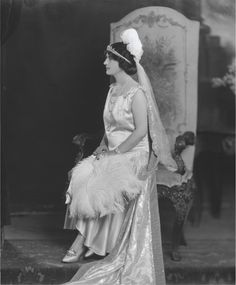 A diamond belle epoque tiara, worn bandeau-style by Helen, later Lady Green, in 1928.