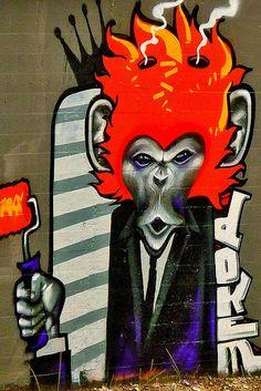Urban Street Art. Wall MURAL.