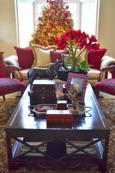 The Polohouse: Holiday Tartan & Tortoiseshell, her home decorated for Christmas
