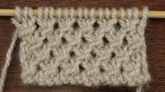 How to Knit the Make Knot Stitch. On New Stitch a Day at http://newstitchaday.com/make-knot-stitch/