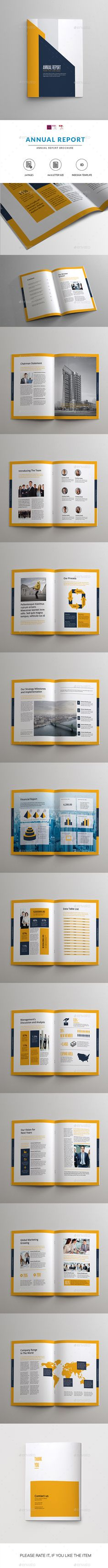 Annual Report Template InDesign INDD. Download here: https://graphicriver.net/item/annual-report/17089493?ref=ksioks