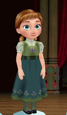 frozen young anna | Young Anna from Frozen game (Young Anna's Dress)