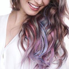 Loving @karimamckimmie's unicorn hair! #hairromance #haircrush
