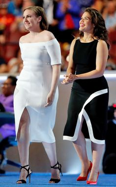 America Ferrera & Lena Dunham from The Big Picture: Today's Hot Pics Girl power! The actresses hit the stage at the Democratic National Convention to give their speech.