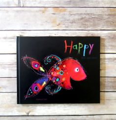 Happy by Mies Van Hout. In Happy, Mies shows all the emotions a young child encounters. I used this book with my clients, they love guessing the feelings of each fish, beautiful artwork :) Album Jeunesse, Book Week, Fish Art, Art Lessons, Childrens Books, Kid Books, Baby Books, Art For Kids, Art Projects