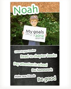 Back to School! Love this goals list for elementary/middle school kids
