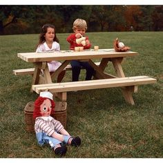Buy Kids Picnic Table Woodworking Plan at Woodcraft