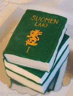LeivinLiina: Lakikirja-kakku Cakes, Desserts, Food, Tailgate Desserts, Deserts, Essen, Cake, Dessert, Pastries