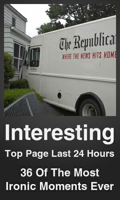 Top Interesting link on telezkope.com. With a score of 4264. --- 36 Of The Most Ironic Moments Ever. --- #interesting --- Brought to you by telezkope.com - socially ranked goodness