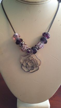 Hey, I found this really awesome Etsy listing at https://www.etsy.com/listing/199228790/purple-glass-murano-beaded-necklace-with