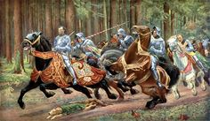 The flight of Charles the Bold