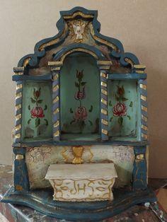 Oratório Home Altar, Indigenous Art, Assemblage Art, Mexican Folk Art, Sacred Art, Religious Art, Box Art, Painting On Wood, Altered Art