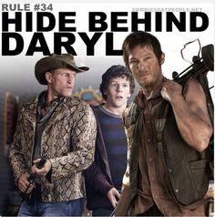 Hiding behind Daryl